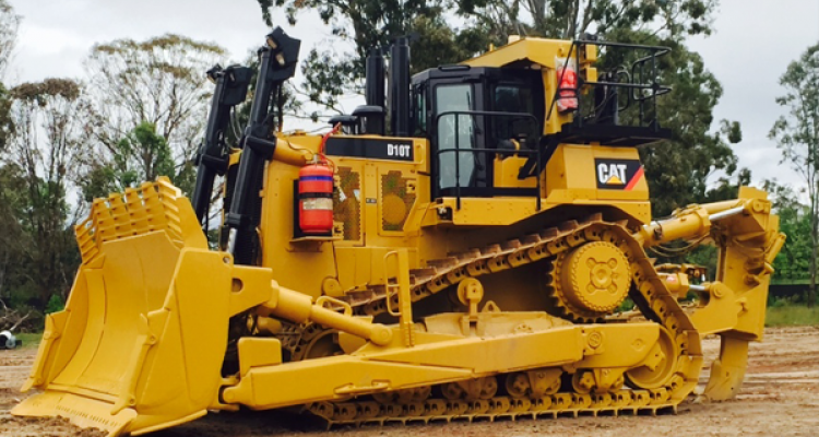 Cat D10T Dozer from side