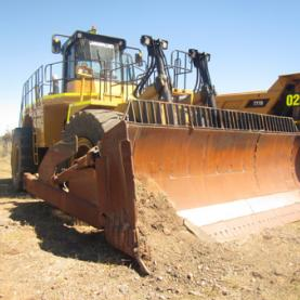 CAT 854G Wheel Dozer Outdoors Moving Dirt