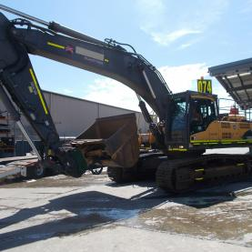 Volvo EC460CL Excavator in Yard Parked