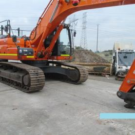 Doosan DX300LC Excavator Parked in yard