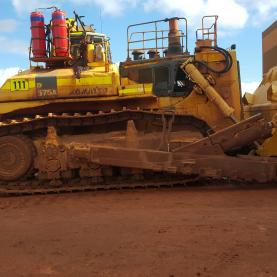 Komatsu Used Bulldozer outside for sale
