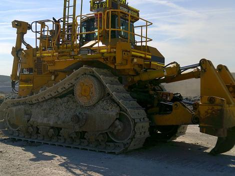 Caterpillar D11R with Ripper Blade on Cement