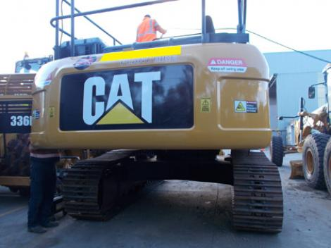 CAT 336D Rear Closeup in yard