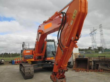 Doosan DX300LC Excavator in Yard