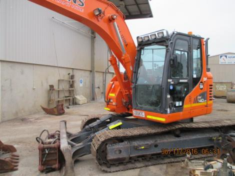 Doosan DX140LCR Excavator Outdoors reverse
