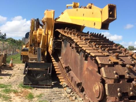 Closeup of trencher configuration