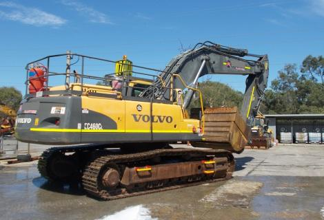 Volvo EC460CL Excavator Outside in the Sun